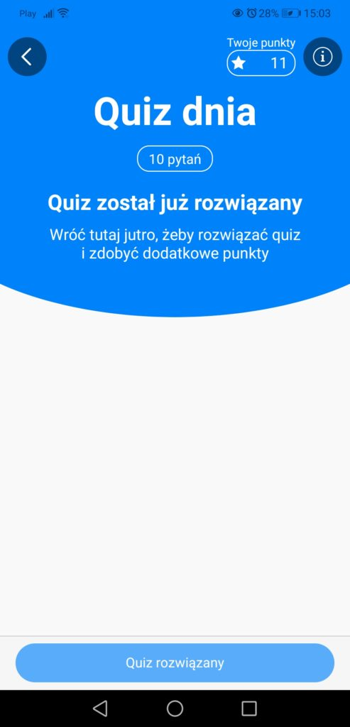 Aplikacja x-kom quiz codzienny
