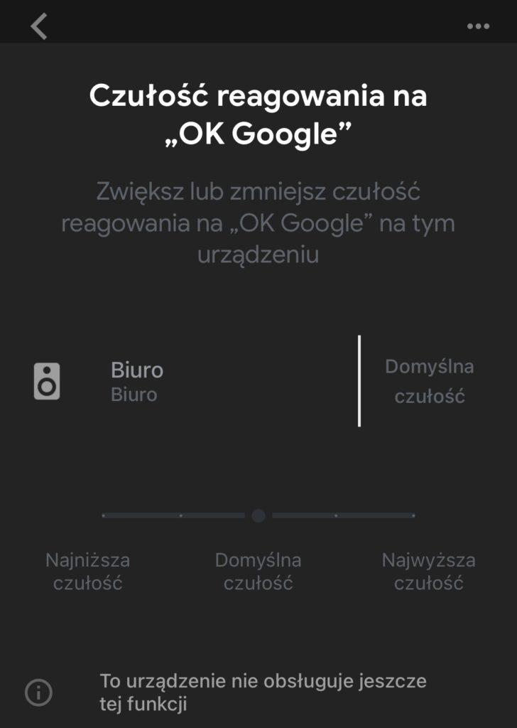 Belkin SoundForm Elite czułość OK Google