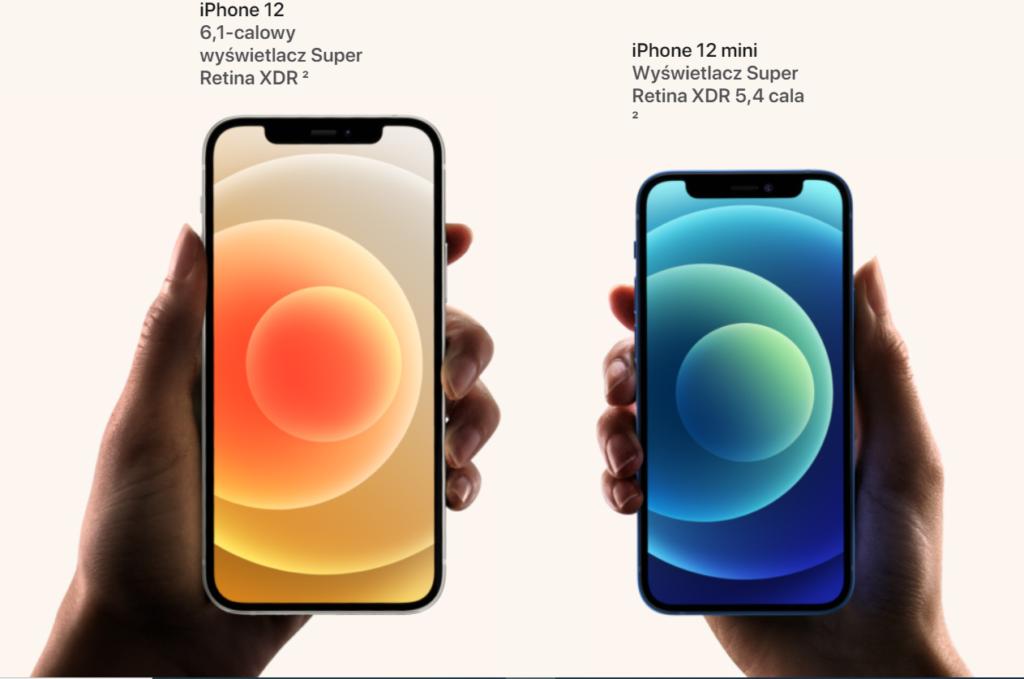 iPhone 12 - wyświetlacze