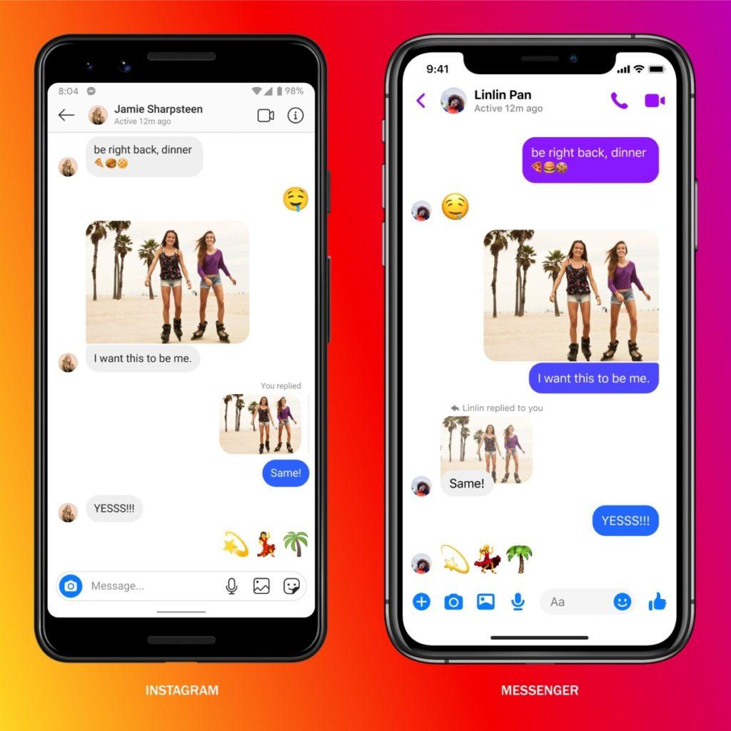Jak wygląda wspólny czat Instagram Messenger