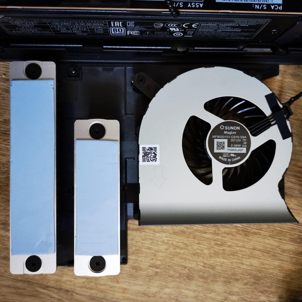 Intel NUC 9 Extreme chłodzenie CPU i termopady SSD