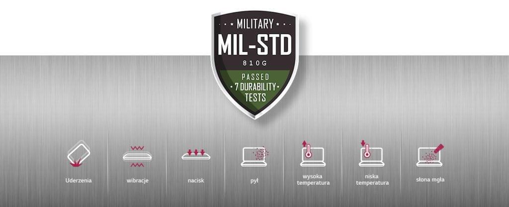 LG Gram standard militarny