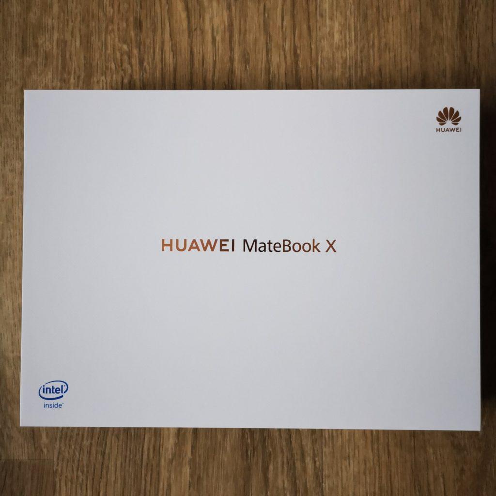 MateBook X 2020 pudełko z laptopem
