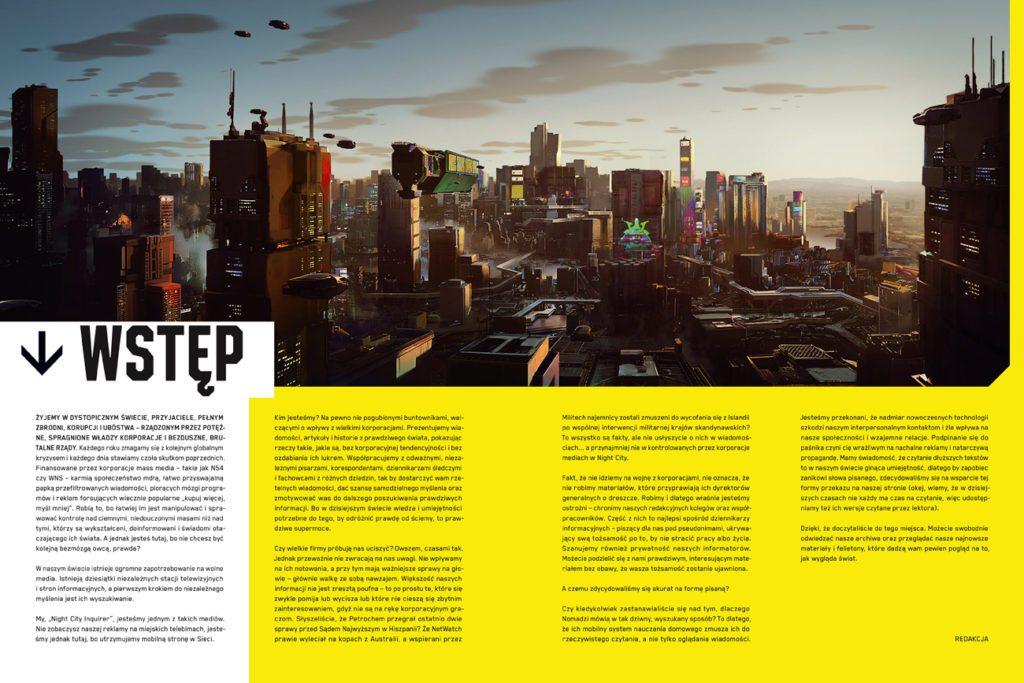 Cyberpunk 2077 oficjalna książka o świecie gry wstęp
