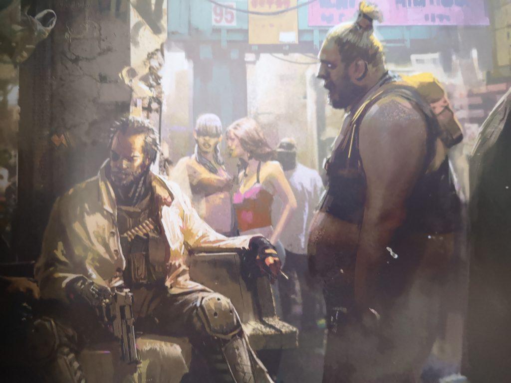 Cyberpunk 2077 oficjalna książka o świecie gry ilustracja
