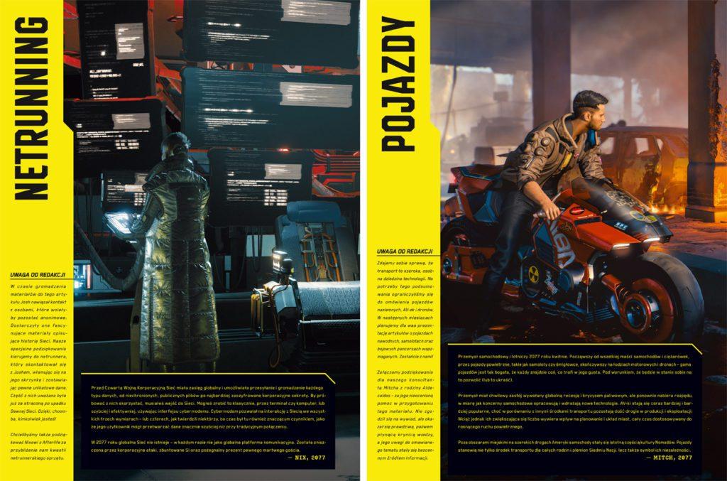 Cyberpunk 2077 oficjalna książka o świecie gry pojazdy