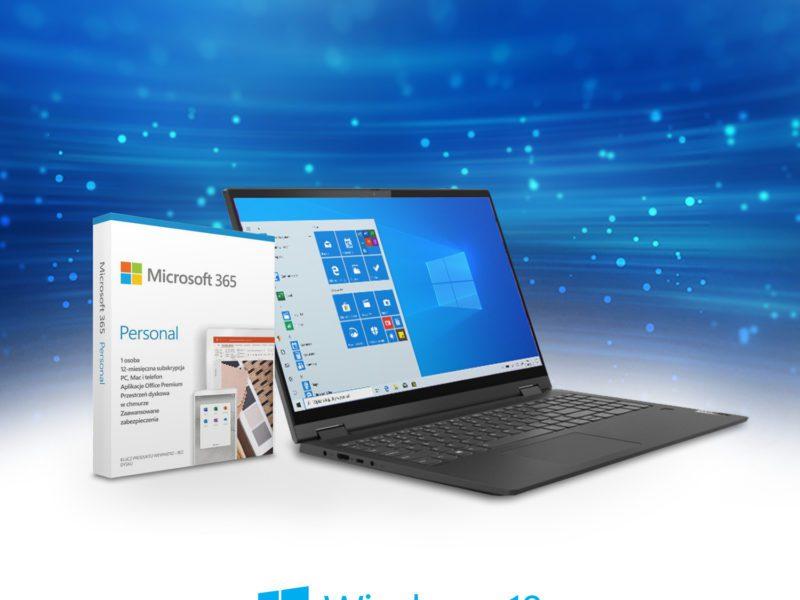 Postaw na laptop Lenovo i odbierz Microsoft Office 365 Personal