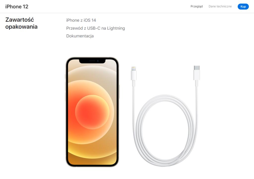 zawartość opakowania iPhone 12