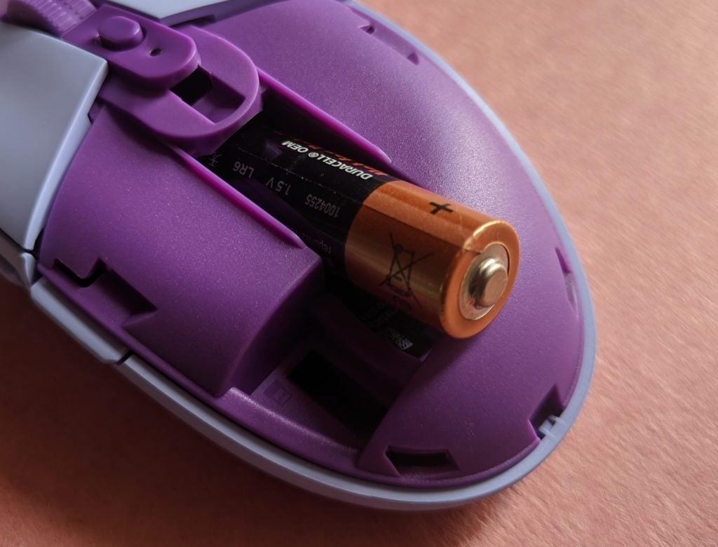 Logitech G305 LIGHTSPEED bateria w myszce