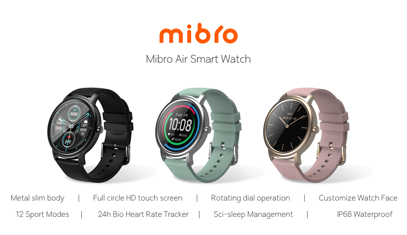 mibro air nowy smartwatch xiaomi