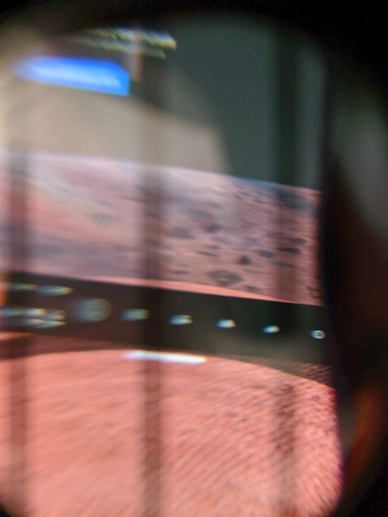 Oculus Quest 2 kraniec ekranu widoczny na zdjęciu
