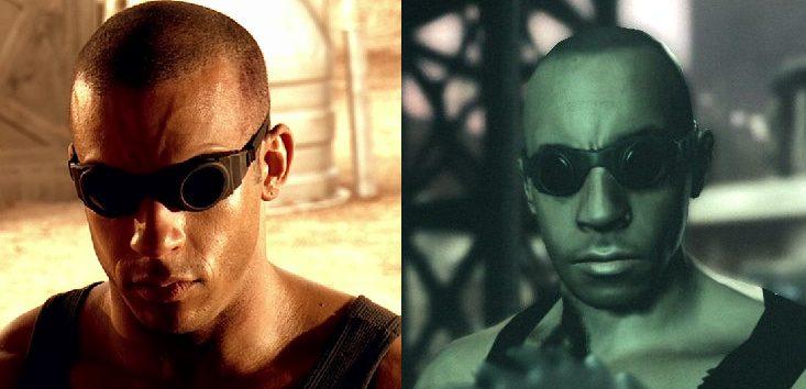 The Chronicles of Riddick wyglą Riddicka gra vs film