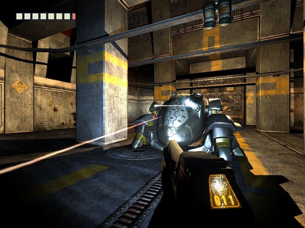 The Chronicles of Riddick walka z bossem robotem strażniczym