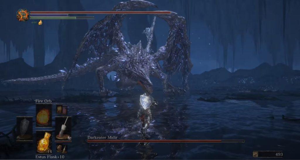 Darkeater Midir boss z Dark Soul III