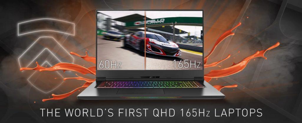 laptop Eluktronics 1440p i 165 Hz