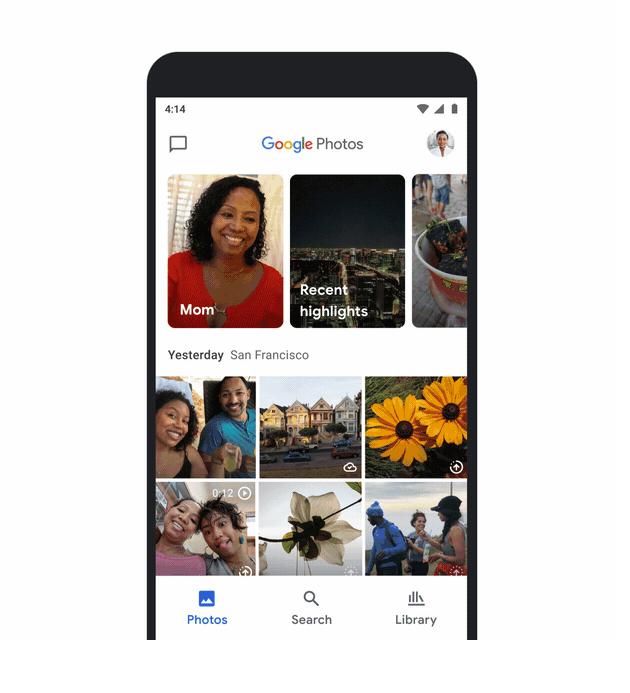 google zdjęcia na smartfonie