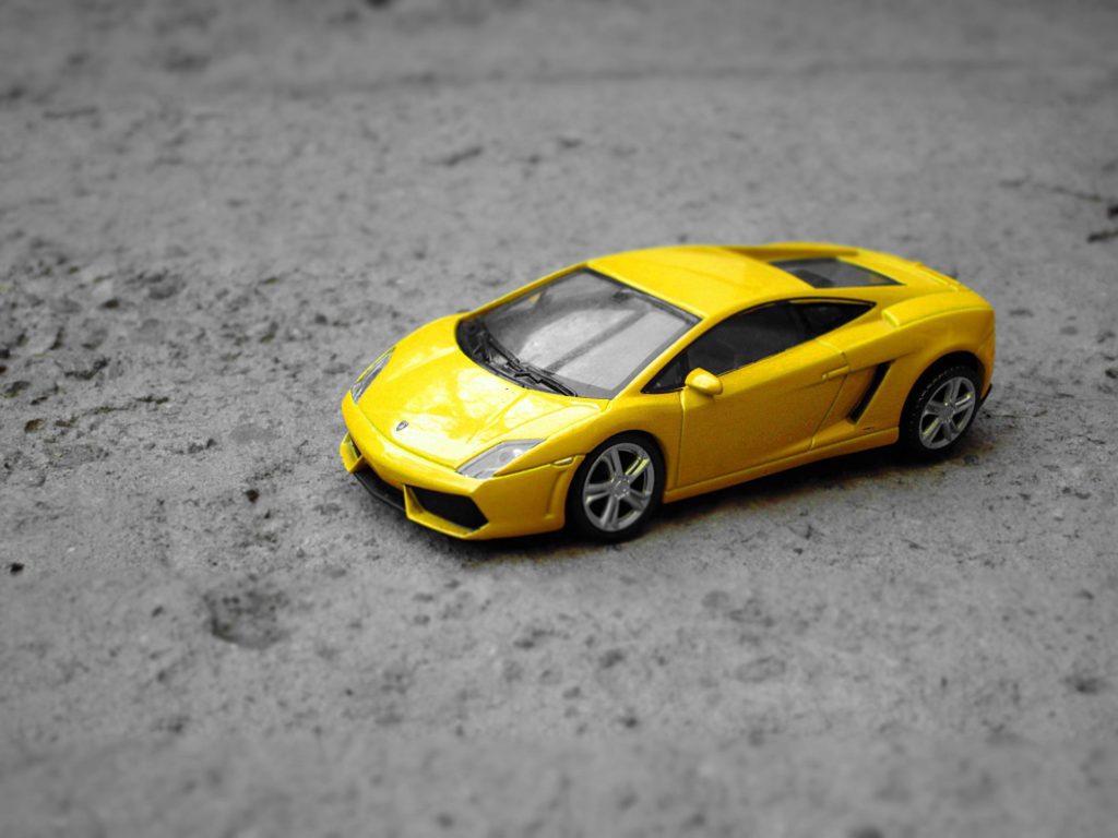 Lamborghini miniaturowy samochód