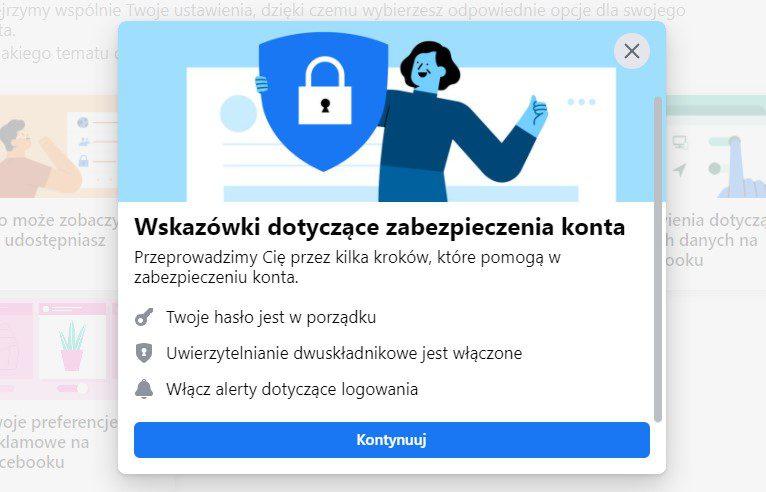 Bezpieczeństwo konta FB
