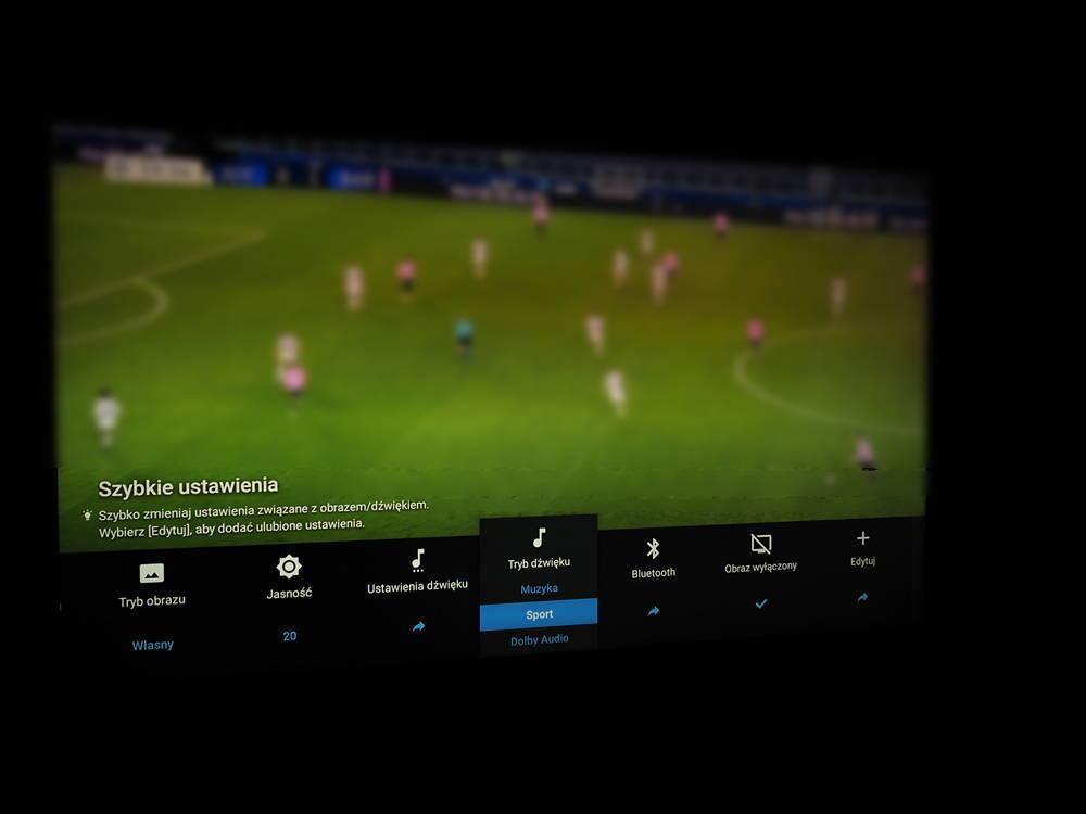mecz na ekranie sony 49xh9505
