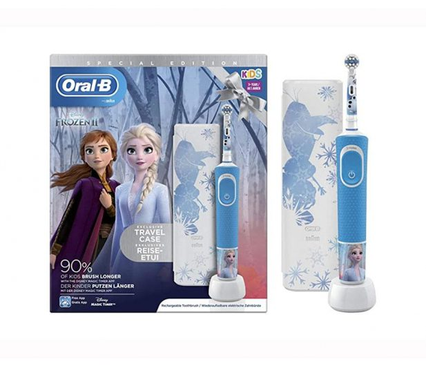 szczoteczka elektryczna oral-b z etui edycja frozen