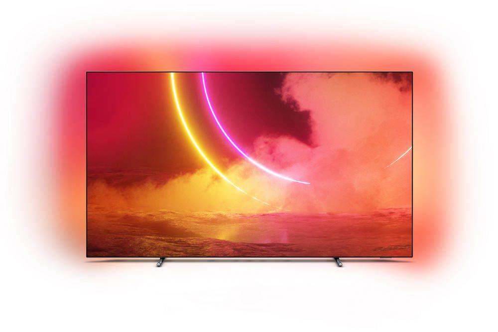 wygląd telewizora philips 55oled805