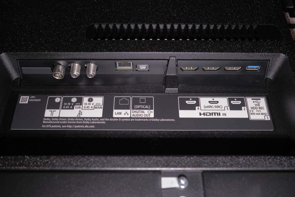 złącza telewizora sony 49xh9505
