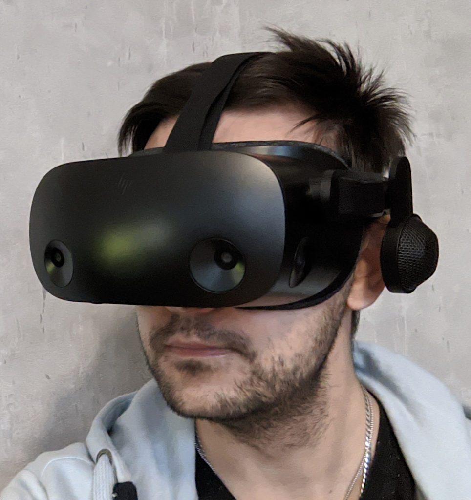 HP Reverb G2 okulary na głowie