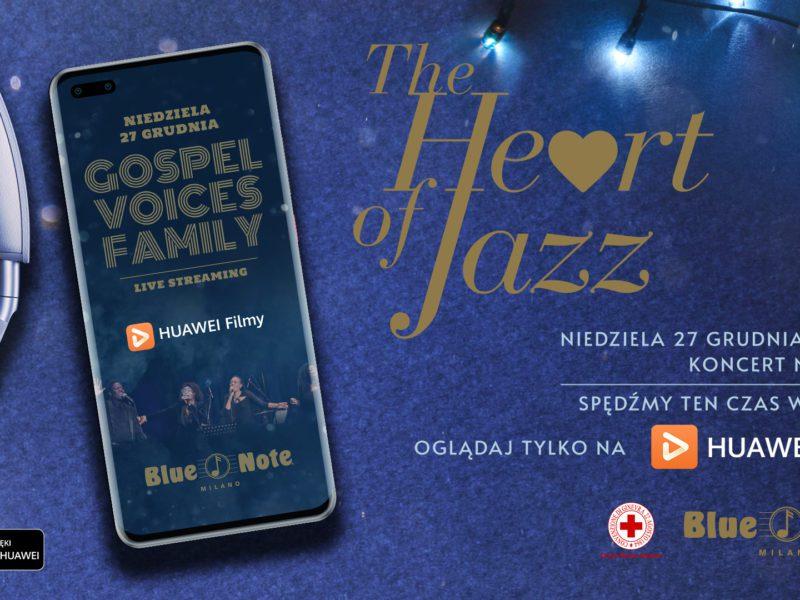 """Poczuj magię świąt i oglądaj wyjątkowy koncert """"The Heart of Jazz"""" na urządzeniach Huawei"""