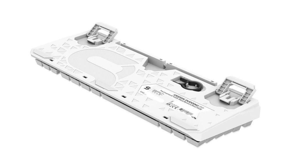 SPC Gear GK630 Onyx White podwójne nóżki