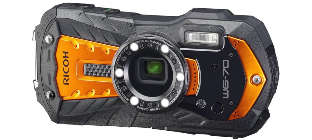aparat fotograficzny kompaktowy Ricoh WG-70 pomarańczowy
