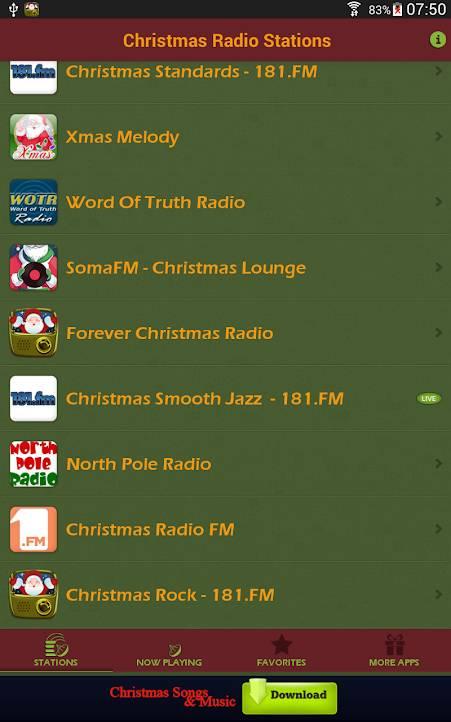aplikacja radiostacje świąteczne