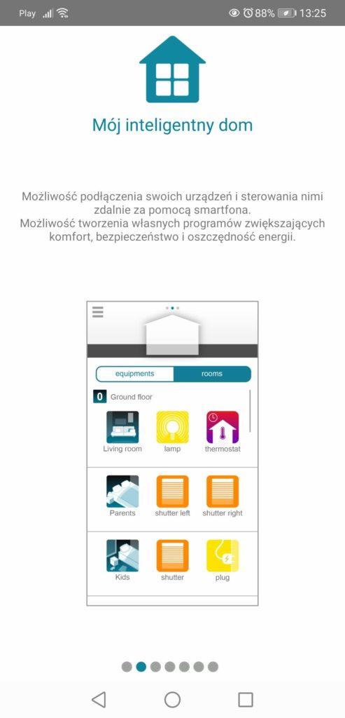 Aplikacja Somfy TaHoma urządzenia