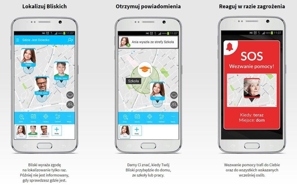 Screen ze strony aplikacji Bezpieczna rodzina