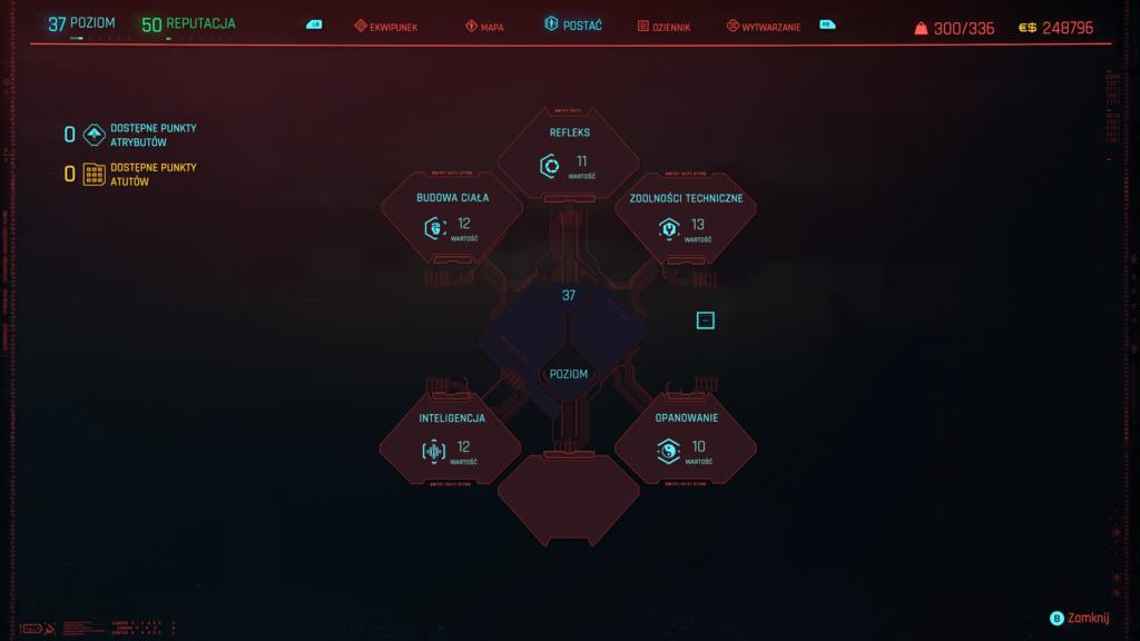 Cyberpunk 2077 drzewko umiejętności