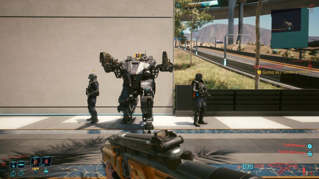 Cyberpunk 2077 patrol policji