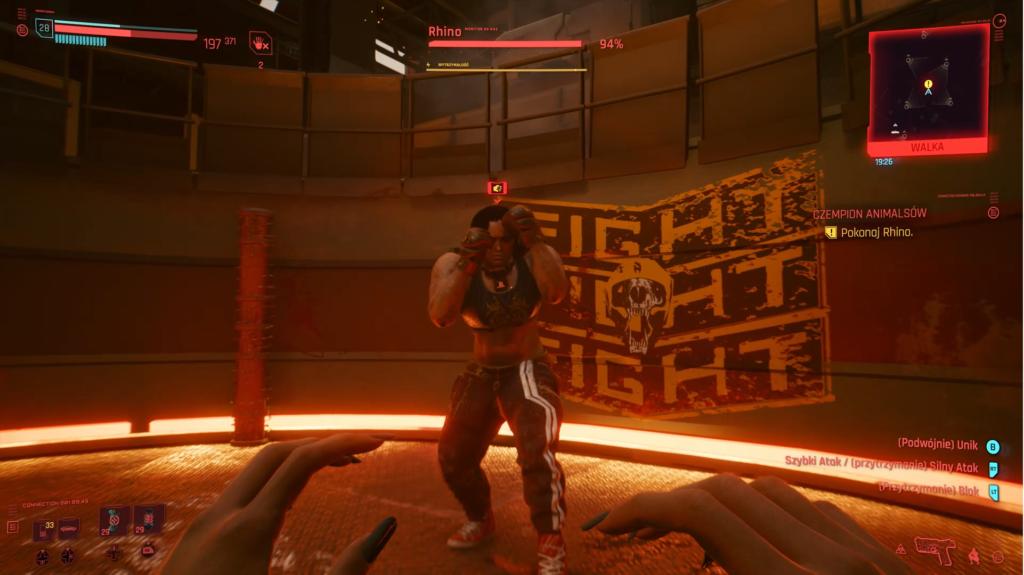 Cyberpunk 2077 walka z rhino
