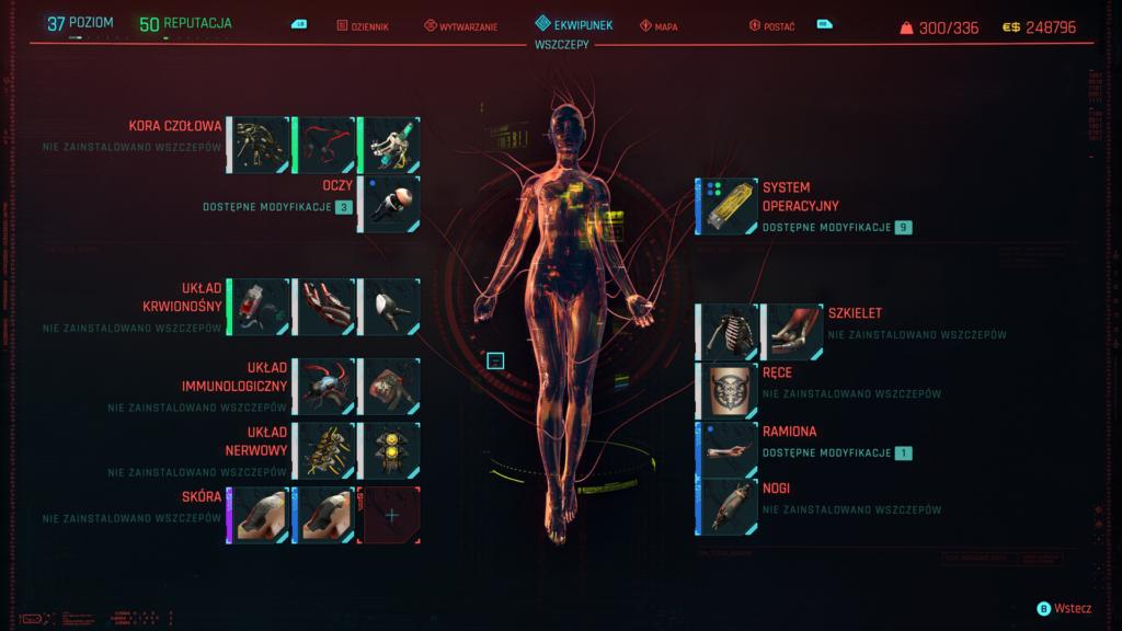 Cyberpunk 2077 cyberwszczepy