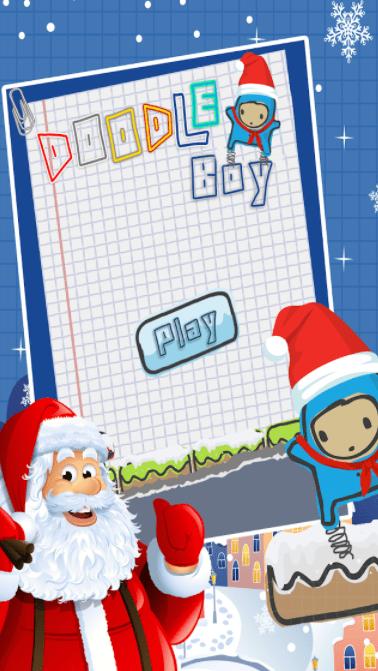 doodle boy christmas gra świąteczna na smartfon