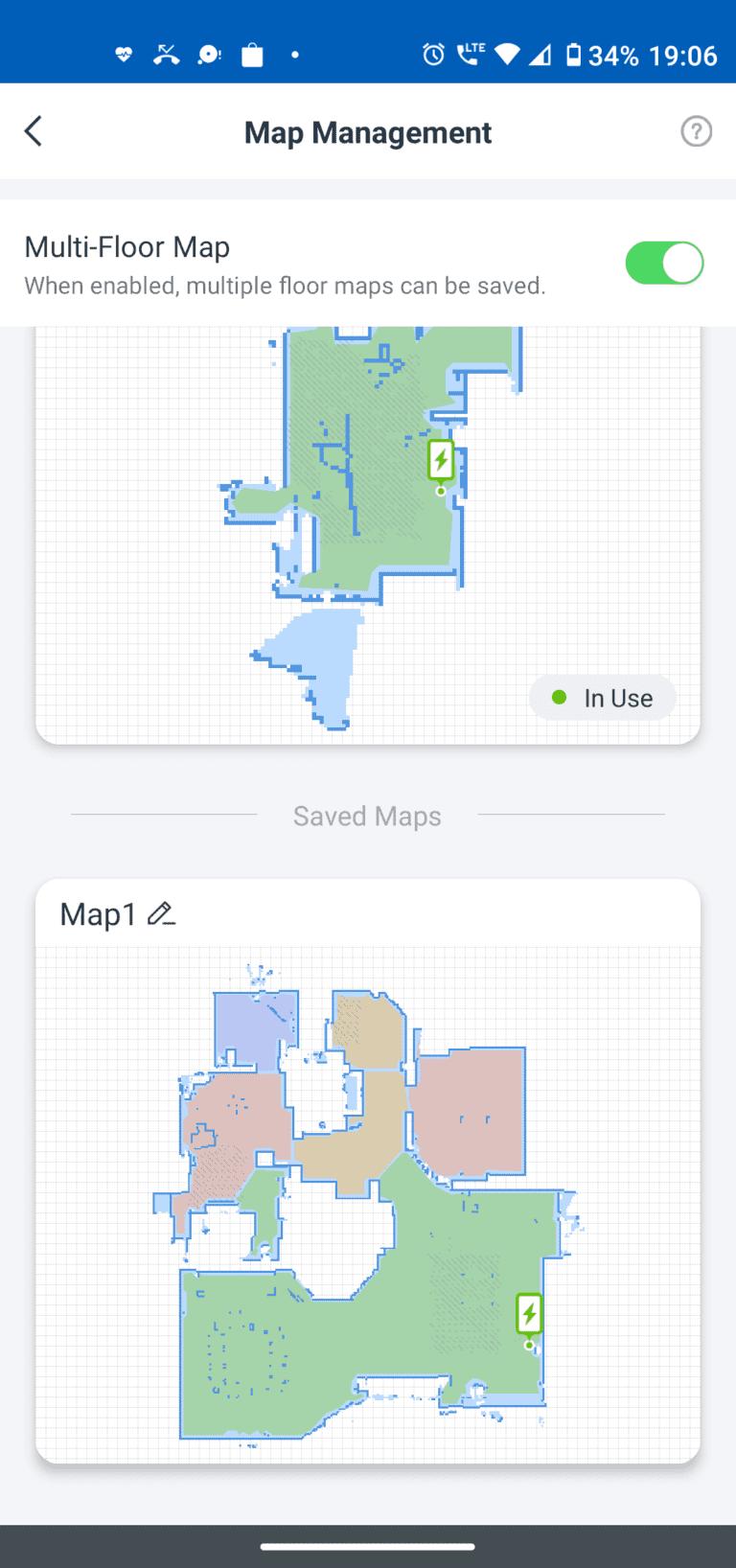 ecovacs aplikacja mapy