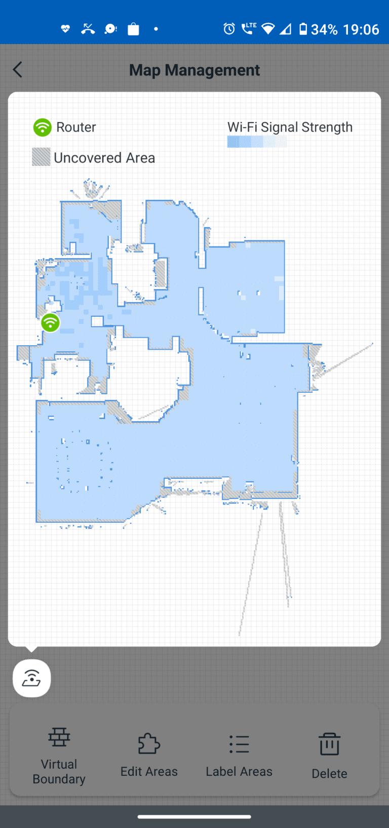 ecovacs aplikacja zarządzanie mapami 2