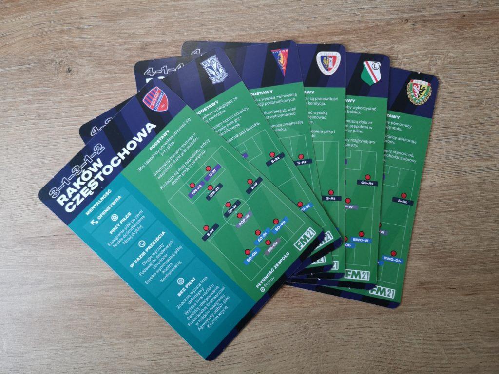 Football Manager 2021 karty z taktykami