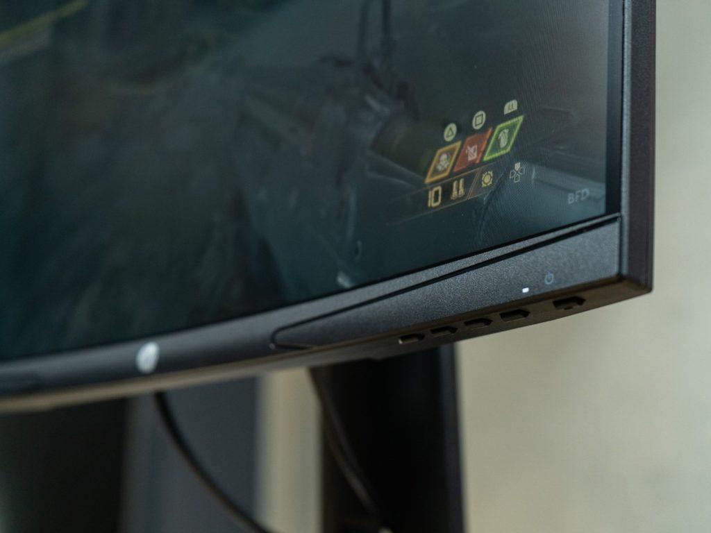 zakrzywienie monitora hp x24c