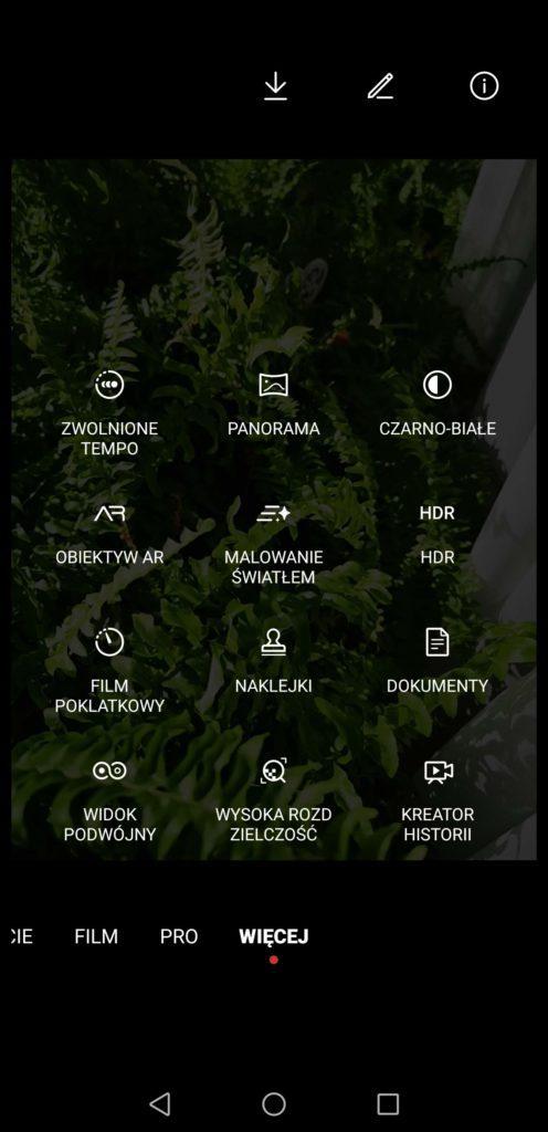 Huawei Mate 40 Pro więcej ustawień aparatu