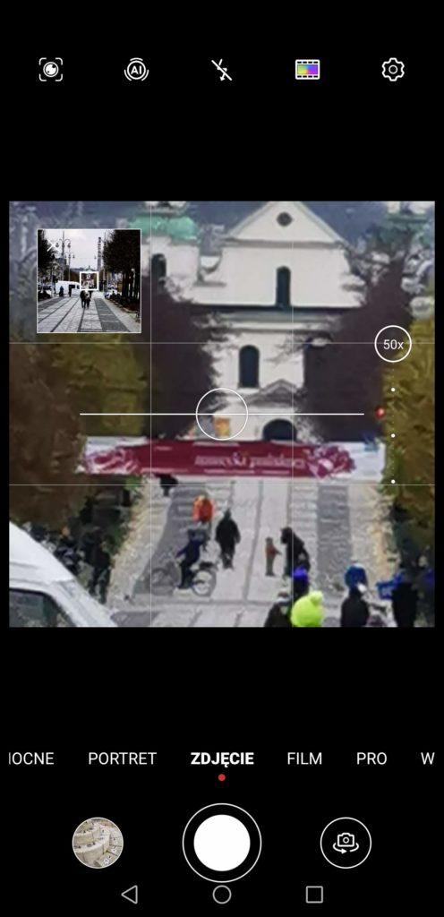 Huawei Mate 40 Pro widok zoom 50x