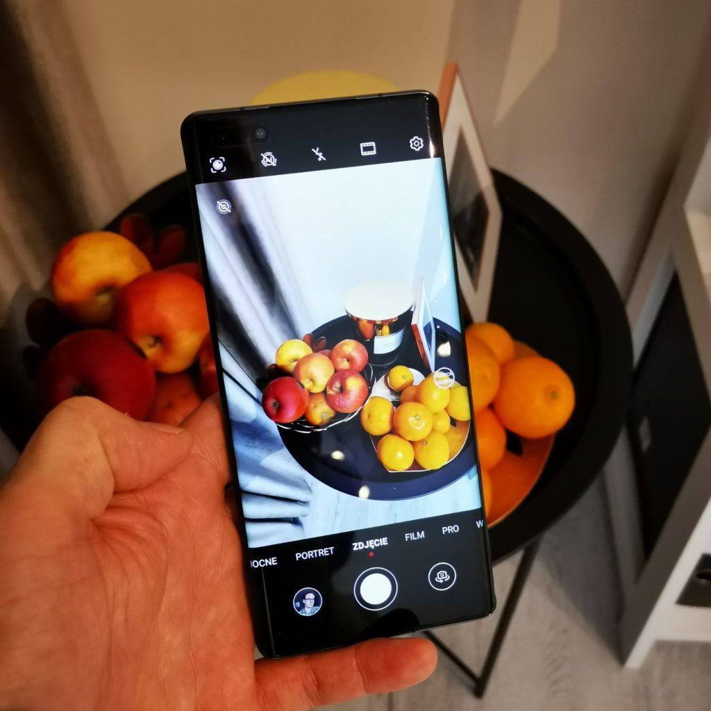 Huawei Mate 40 Pro interfejs aparatu