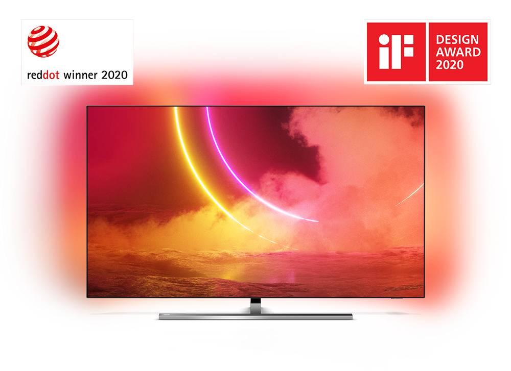 wygląd telewizora philips 65oled855