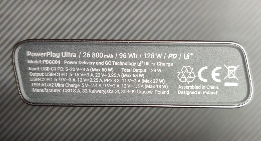 dane techniczne PowerPlay Ultra