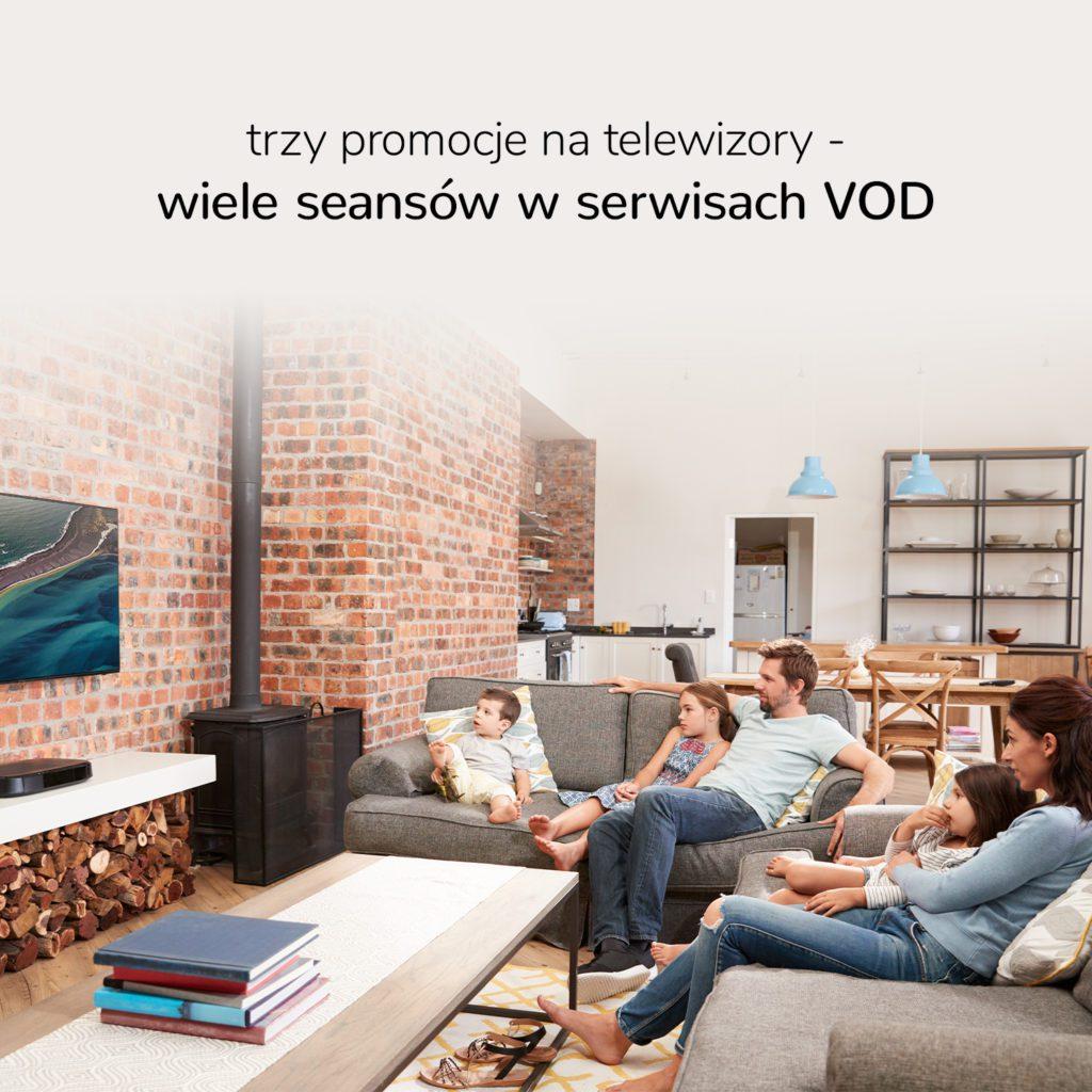 promocje na telewizory serwisy vod ipla rakuten tv netflix