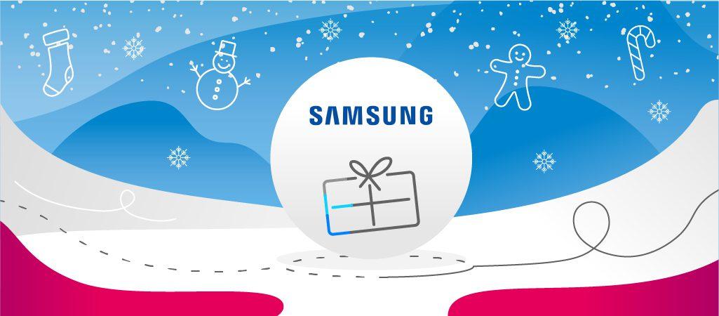 prezent z logo Samsunga