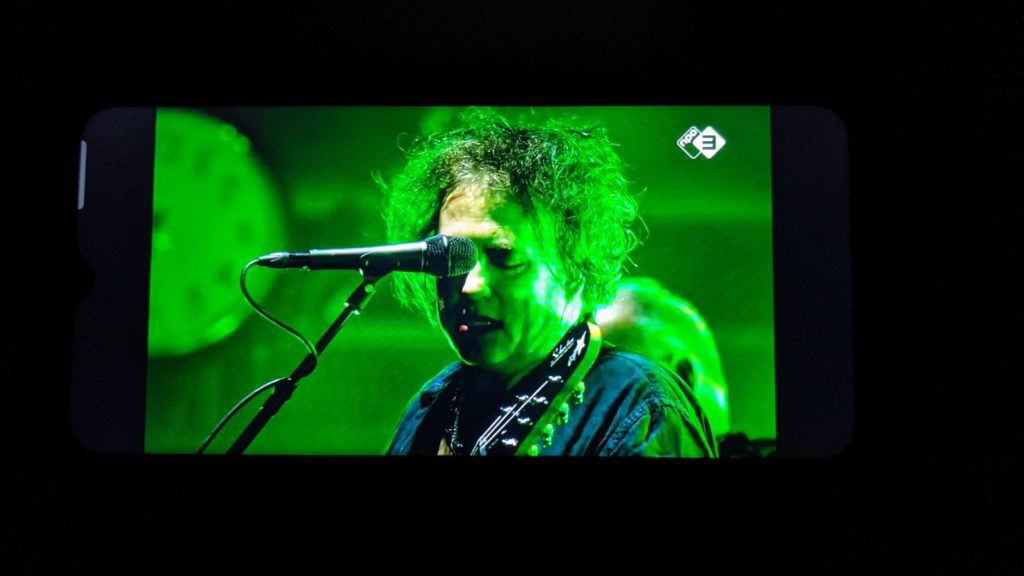 robert smith na koncercie PinkPop